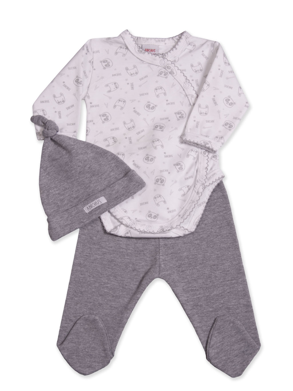 Conj body ranita exclusivo Gris ML