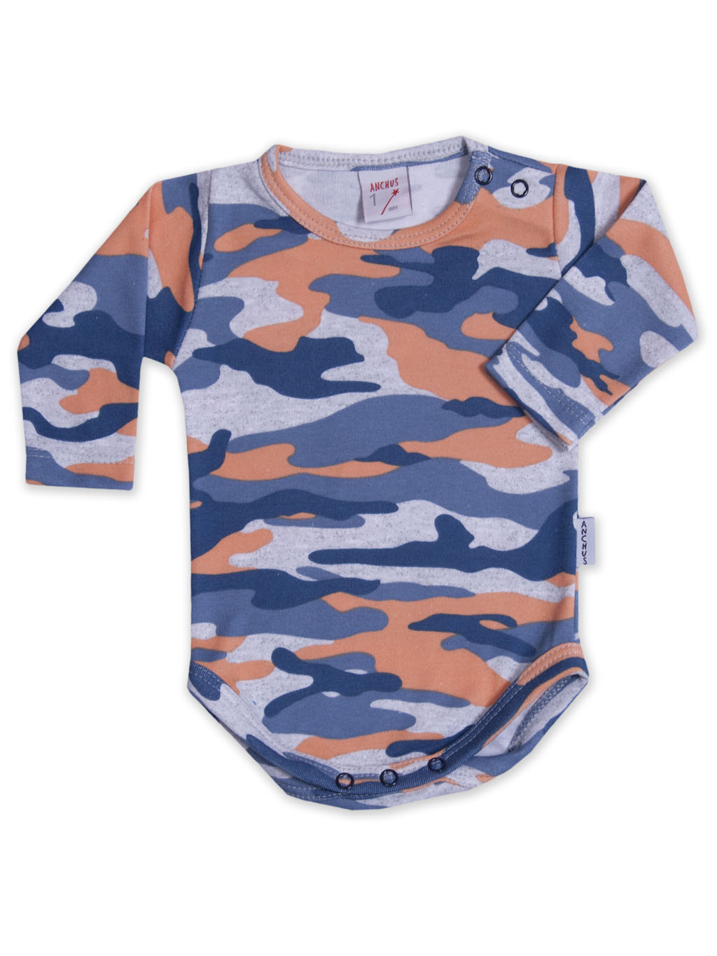 Body ml interlock camuflado azul